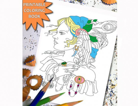 Pretty Women ADULT COLORING BOOK Sexy Girl Printable Adult | Etsy – coloring book übersetzung