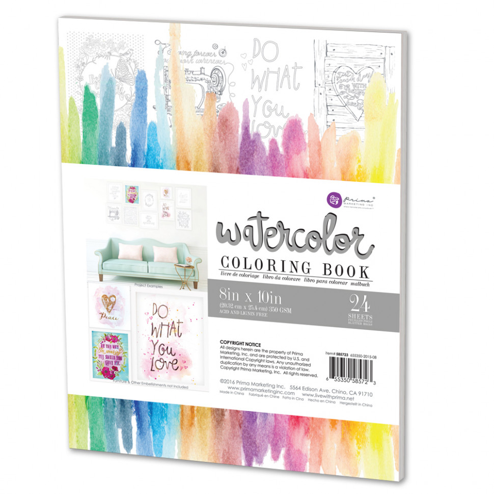 Prima Watercolor Coloring Book – watercolor coloring book