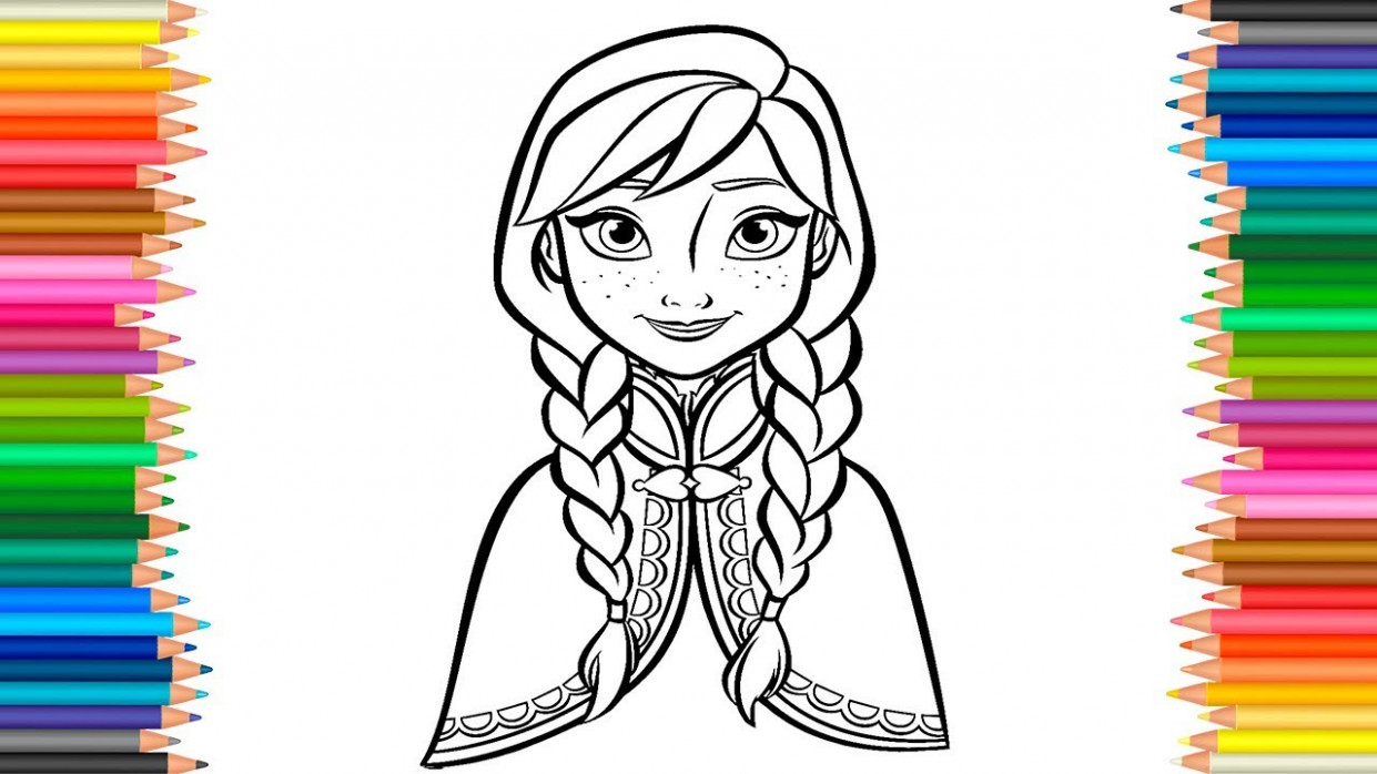 Princess Anna Coloring Pages Disney Frozen Coloring Book For ...