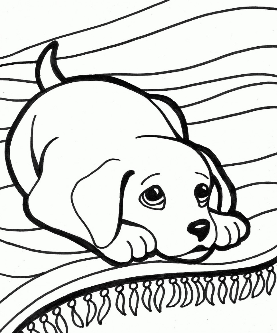 Printable Dog Coloring Pages 19 With Printable Dog Coloring Pages ...