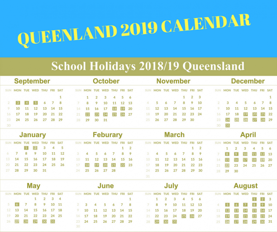 Printable Free School Holidays Calendar 14 QLD [Queensland ..