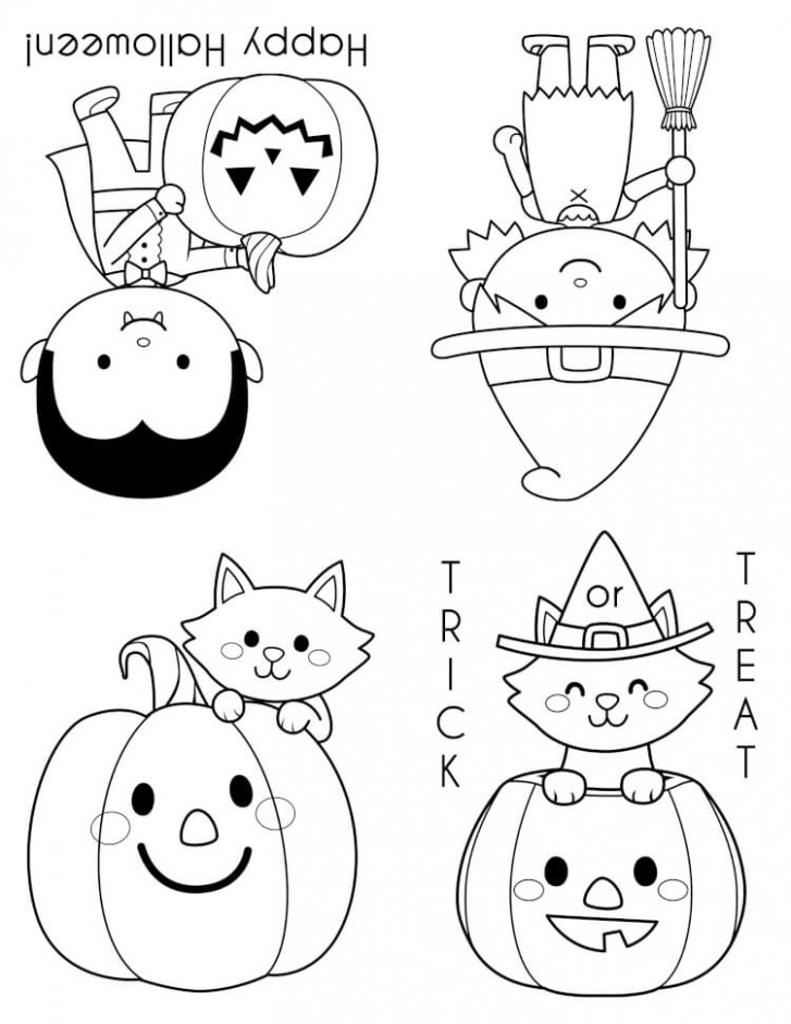 Printable Halloween Coloring Books – Happiness is Homemade – halloween coloring book