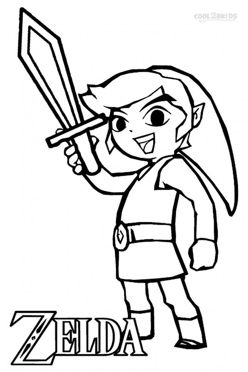 Printable Zelda Coloring Pages For Kids | Cool16bKids | Video Game ..