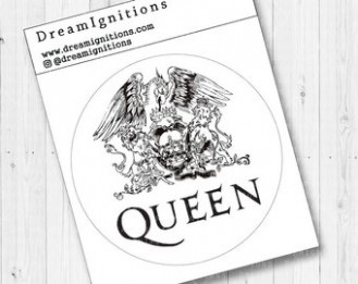 Queen band sticker | Etsy – queen band coloring book