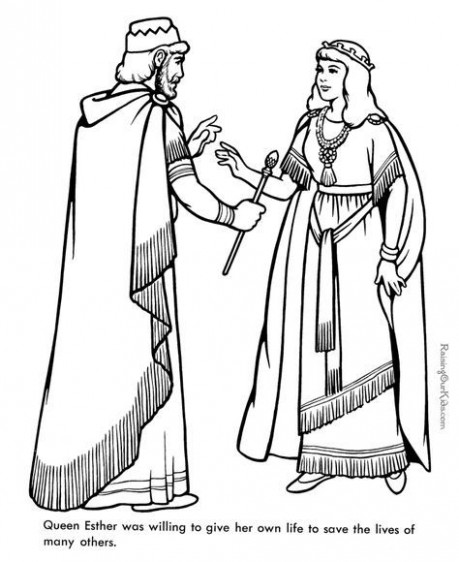 Queen Ester – Bible coloring page to print 17 | Esther bible study ..