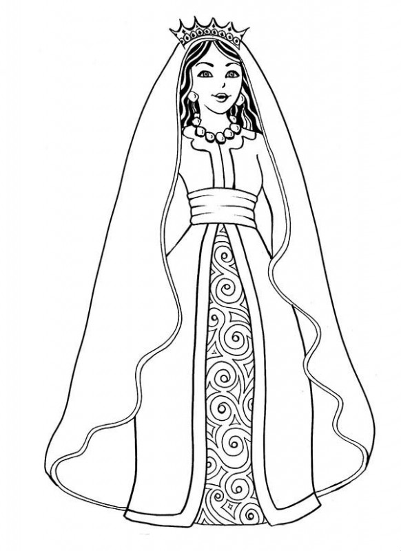 Queen Esther Coloring Pages #17