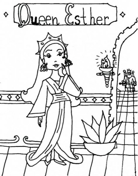 Queen Esther Coloring Pages Advanced Queen Esther Coloring Pages ...