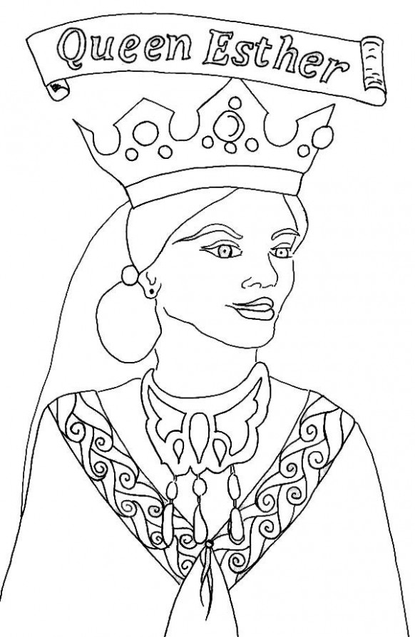 Queen Esther, : Picture of Queen Esther Coloring Page | coloring 17 ...