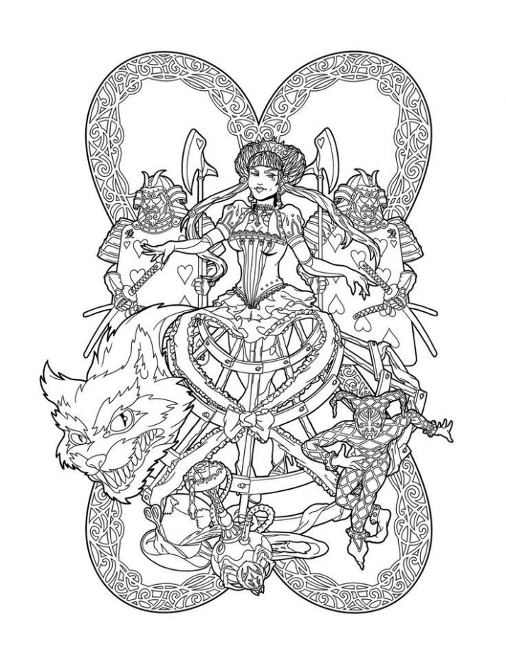 queen of hearts | Coloring Therapy | Pinterest | Coloring pages, Red ..