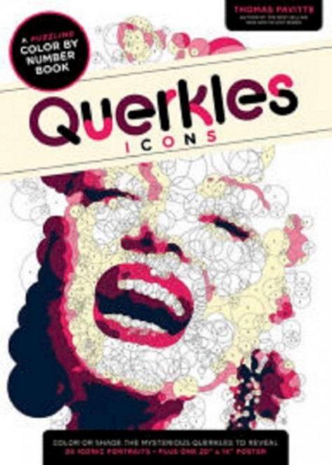 Querkles Icons Adult Coloring Book: A Puzzling Color-By-Number Book ...