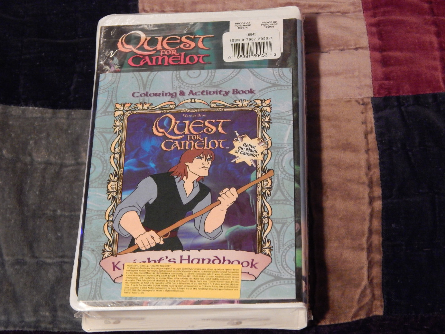 Quest For Camelot (VHS, 19, With Color Activity Book) | eBay – quest for camelot coloring book