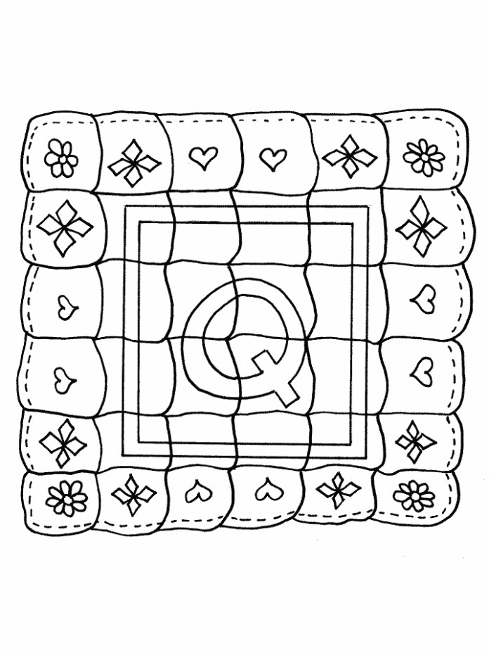 Quilt Coloring Pages q quilt alphabet coloring pages coloring book ...