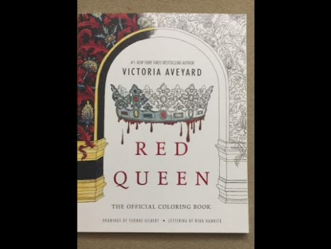 Red Queen flip through – YouTube – red queen the official coloring book