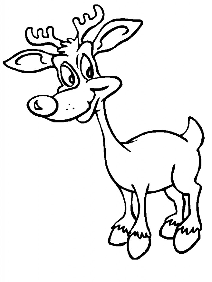 Reindeer18 Christmas Coloring Pages coloring page  – xmas coloring book pages