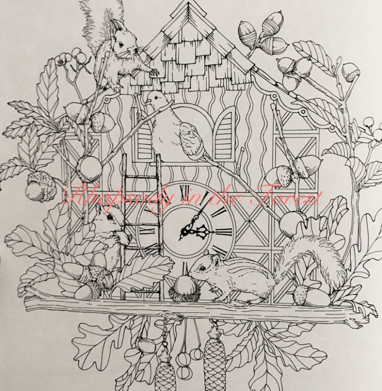 Rhapsody in the Forest by Kanoko Egusa - Colour with Claire - rhapsody in the forest coloring book