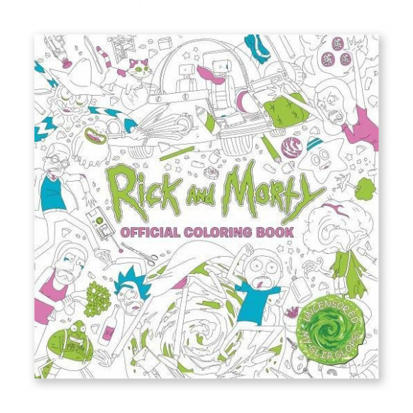 Rick and Morty: The Coloring Book | ThinkGeek - your body belongs to you coloring book