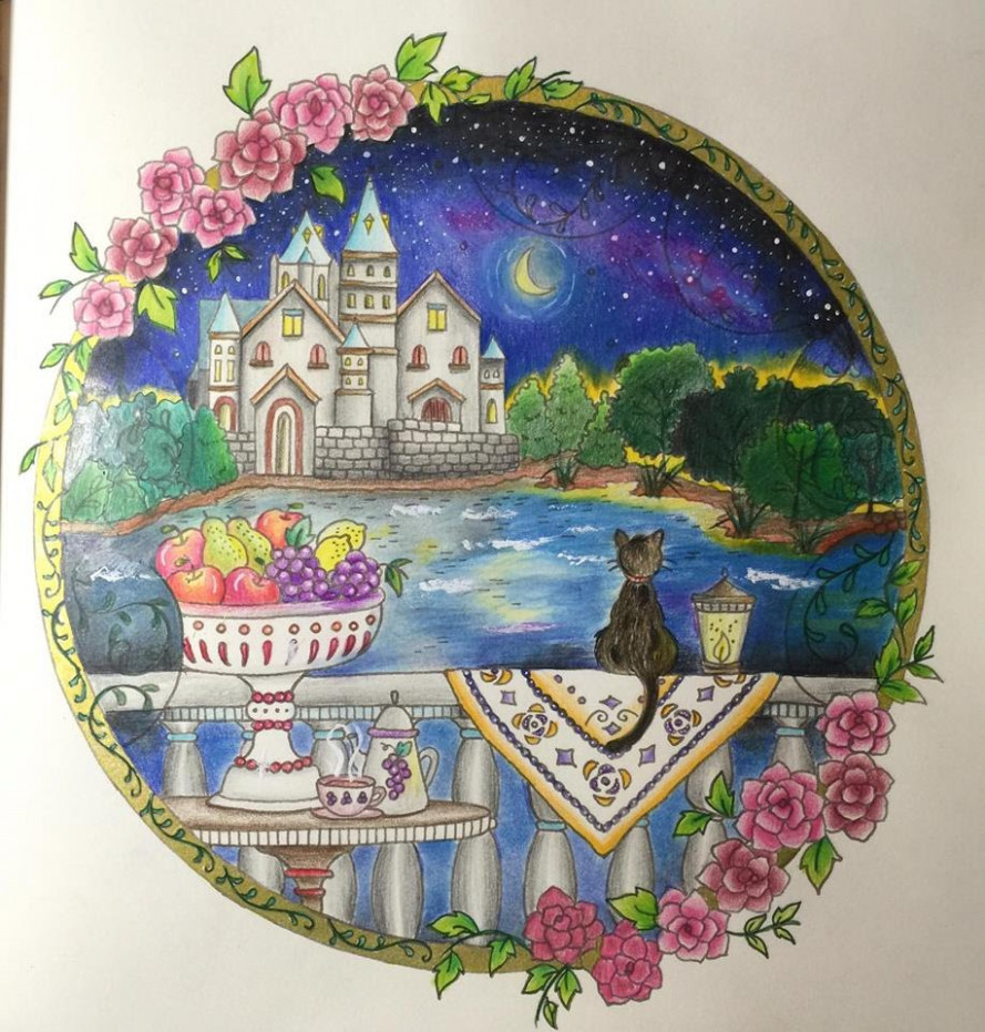 Romantic Country Coloring Book – Coloring Pages – romantic country coloring book