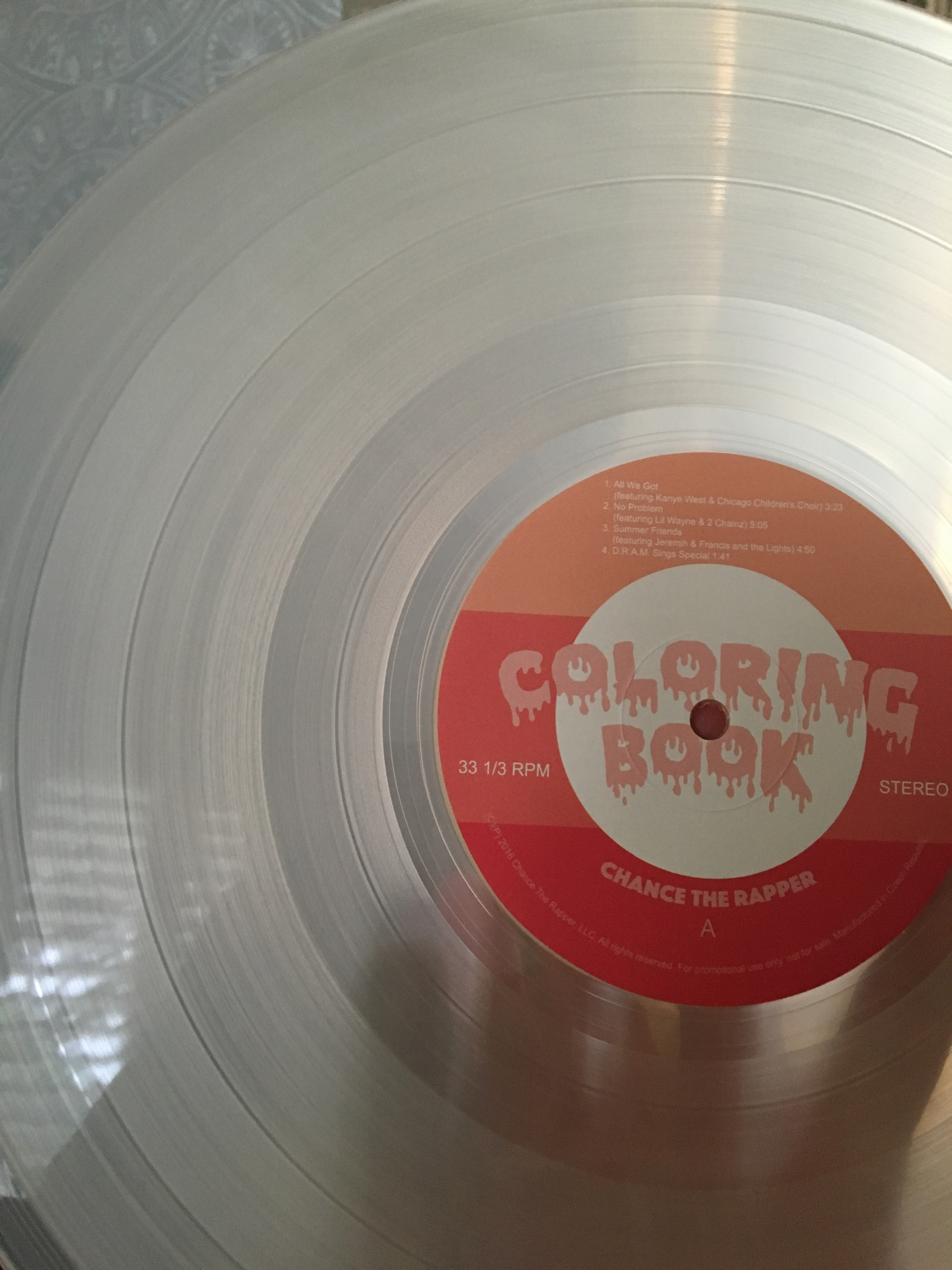 Rough Trade Nottingahm 118/18/18 Chance the Rapper – Colouring Book ..