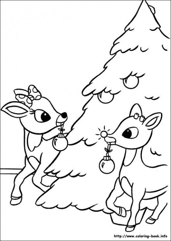 Rudolph the Red-Nosed Reindeer coloring pages on Coloring-Book.info ..