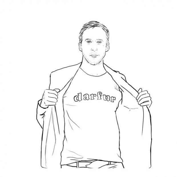 Ryan Gosling coloring book - So About What I Said