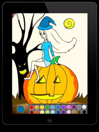 Scary Colors – coloring book app for iPad | Componentix blog – ipad coloring book