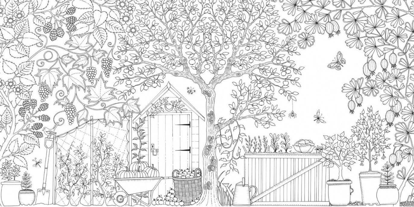 Secret Garden: An Inky Treasure Hunt and Colouring Book: Amazon.co ..