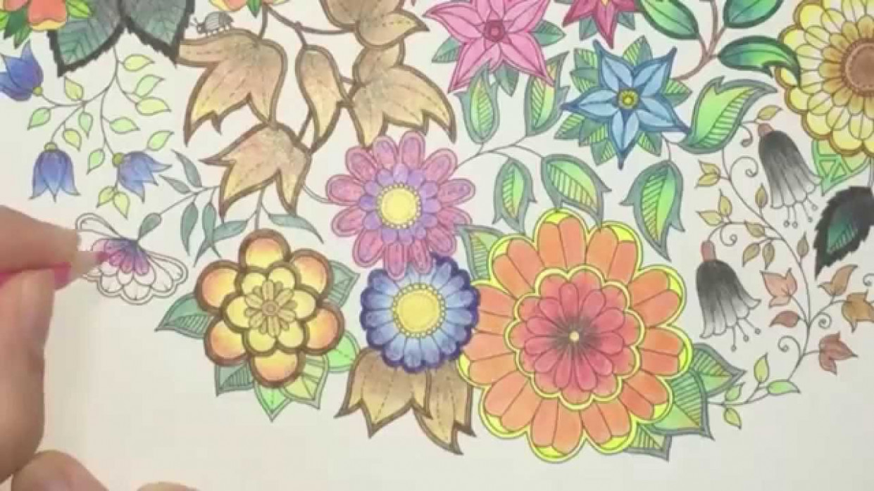 Secret Garden Coloring Book (Page 15) - YouTube - the secret garden coloring book