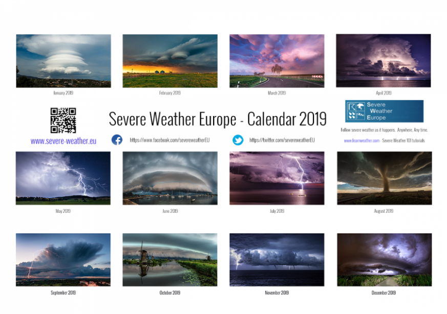 Severe Weather Europe – Calendar 17 – Severe Weather Europe – Calendar For Year 2019 Croatia