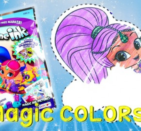 Shimmer and Shine Color Changing Imagine Ink Rainbow Marker Coloring ...