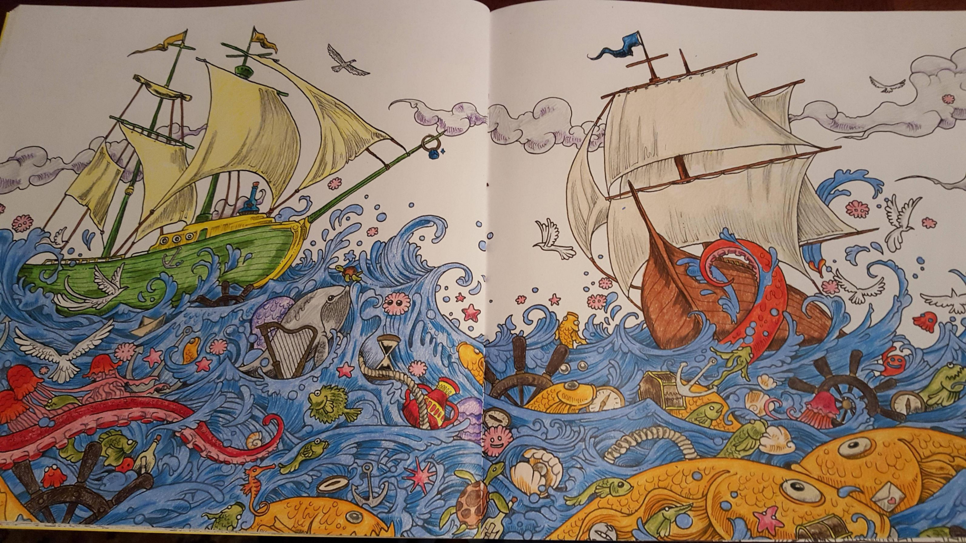 Ships - Imagimorphia colouring book - Album on Imgur