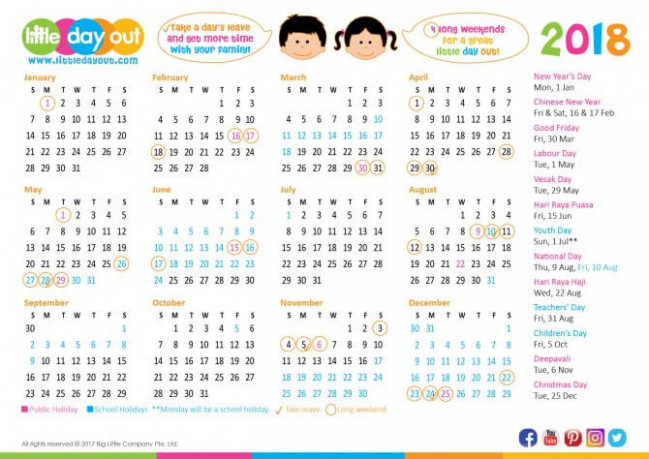 Singapore Public Holidays  – 2019 Chinese New Year Calendar Singapore