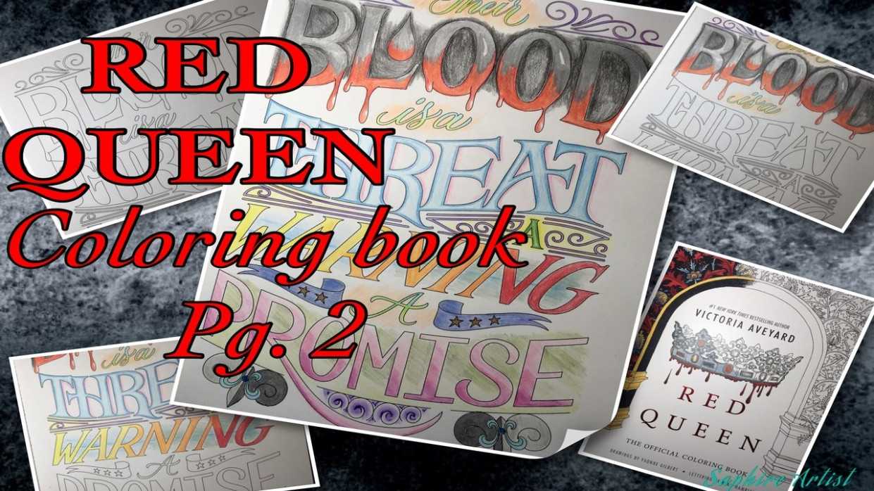 Speed Draw~ Red Queen coloring book Pg