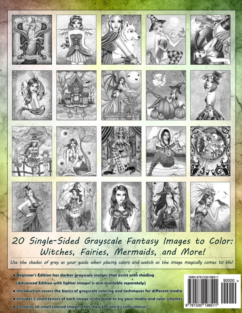 Spellbinding Images: A Grayscale Fantasy Coloring Book: Beginner's ..