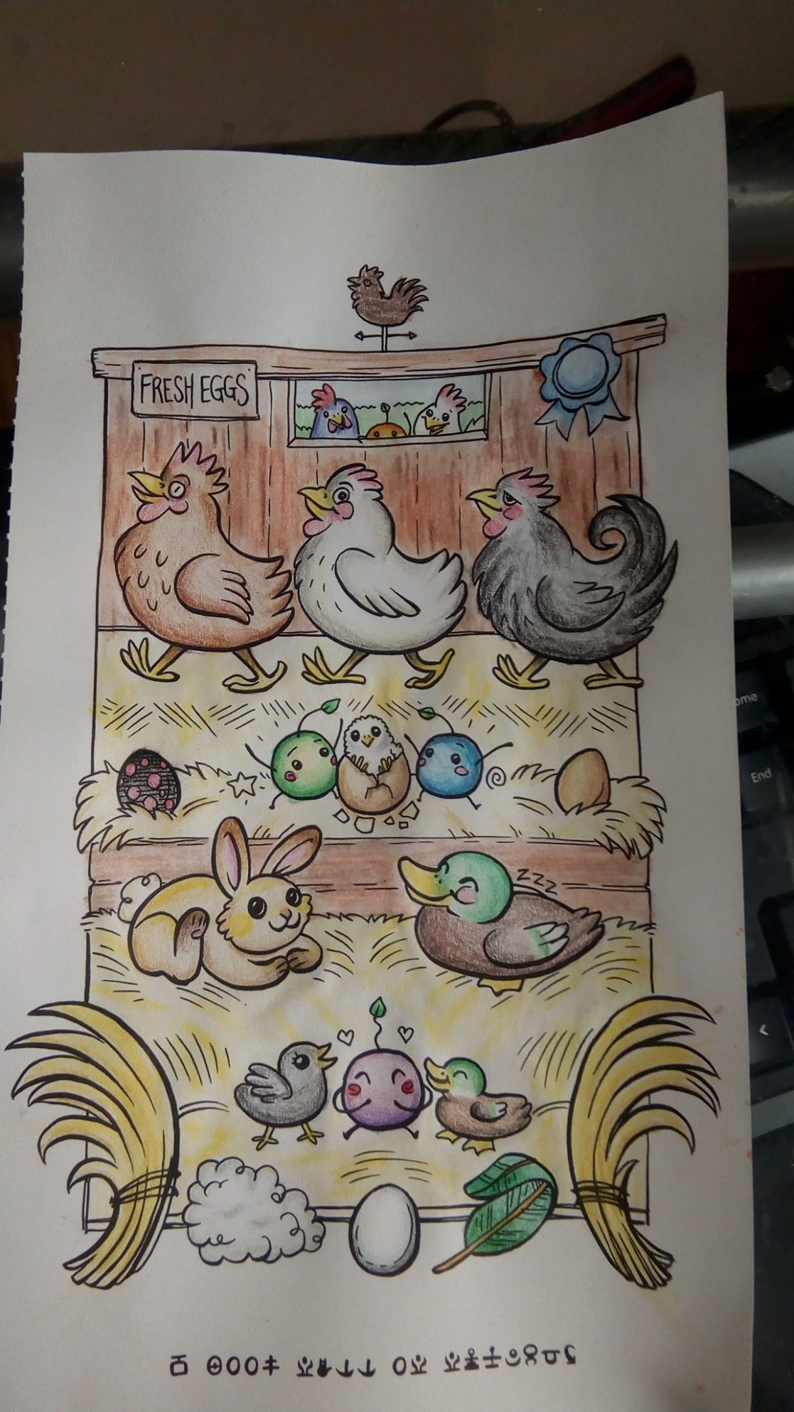 Spent my morning coloring a page from the Junimo coloring book ...