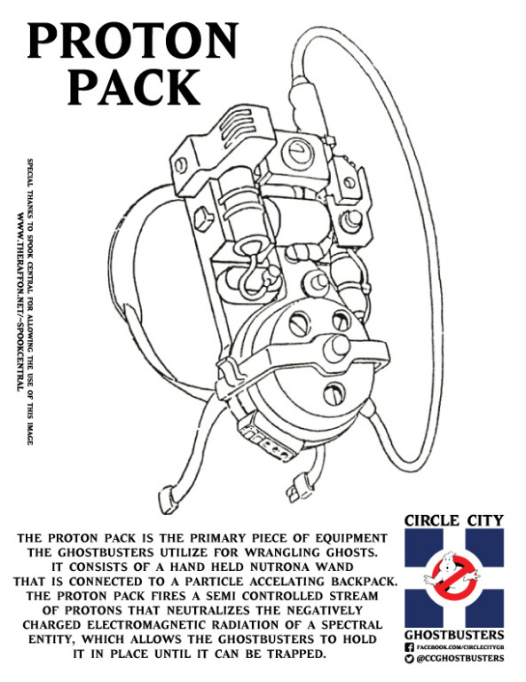 Spook Central Halloween Treat - Ghostbusters Coloring Pages