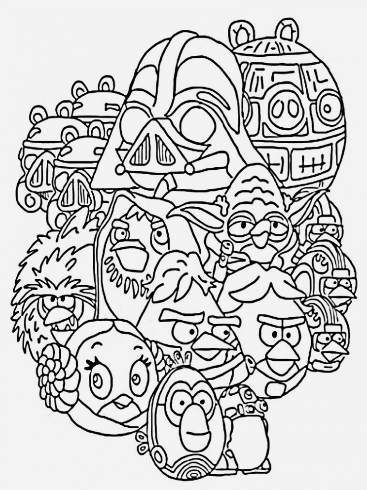 Star Wars Coloring Book Star Wars for Adults Coloring Pages ...