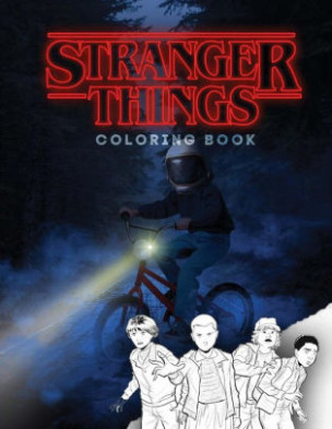 Stranger things: coloring book, activity book for children and teens ..