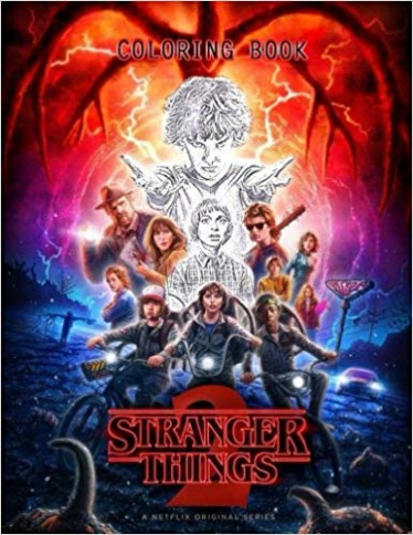 Stranger Things Coloring Book: Amazon.de: Sans Media: Fremdsprachige ..