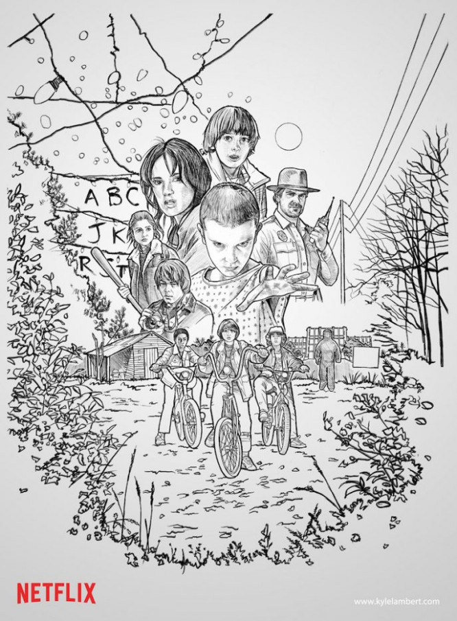 Stranger Things Coloring Book – Coloring Pages – stranger things coloring book