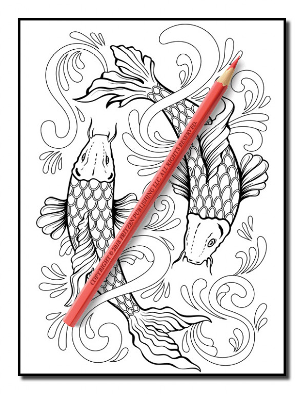 Tattoo Coloring Book | Tattoo Coloring Pages for Adults - jade summer coloring book