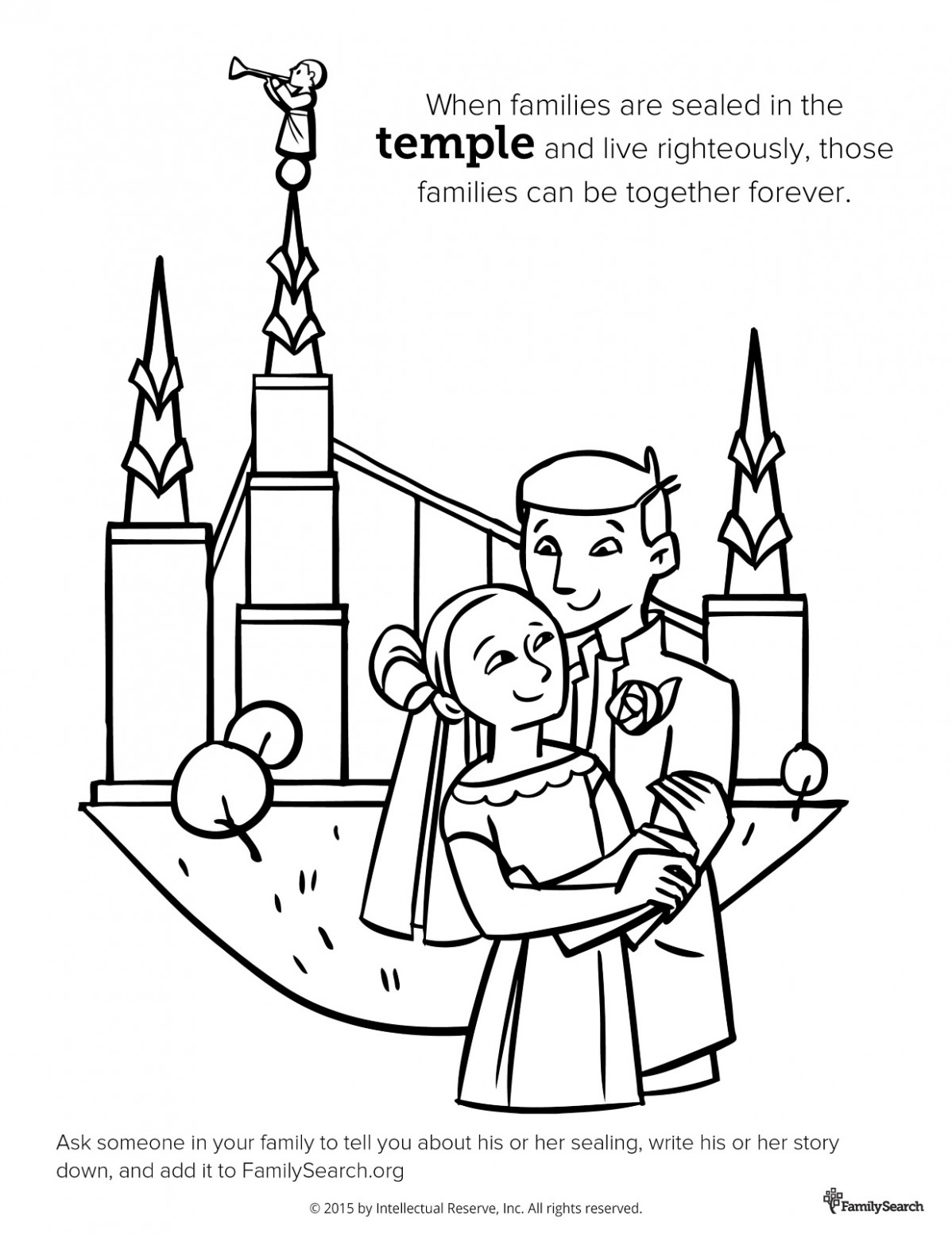 Temple Sealing - lds coloring book