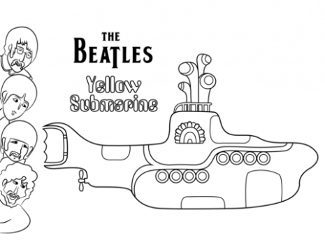 The Beatles Yellow Submarine cover art coloring page | Free ..