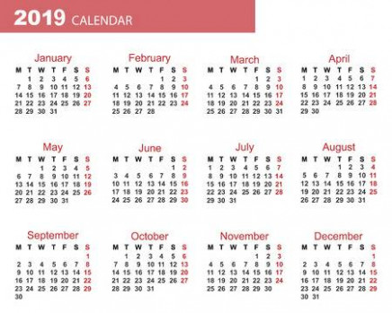 The Calendar. New Year. 13. Date. For Your Design. Stock Photo ...