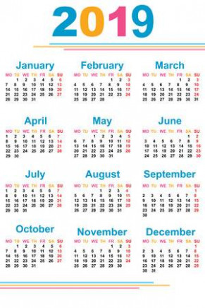 The Calendar. New Year. 20. Date. For Your Design. Stock Photo ...