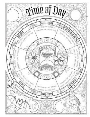The colouring Book of Shadows – Spell Book – The WOOshop – book of shadows coloring book