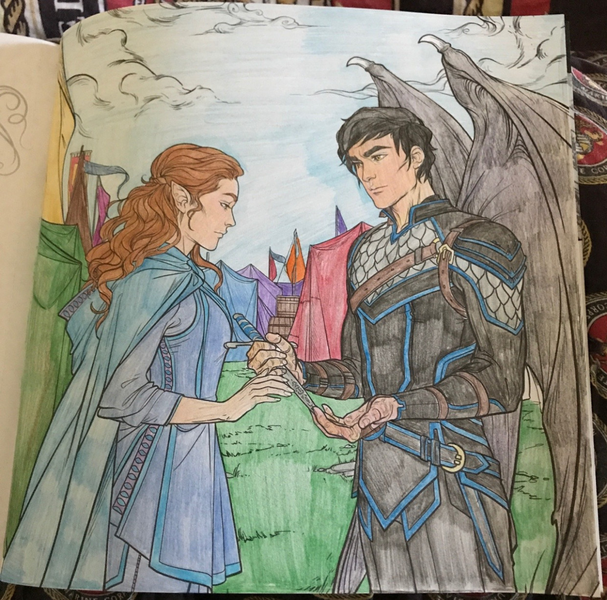 """The Dauntless Mockingjay — Elain and Azriel in """"A Court Of Thorns .."""