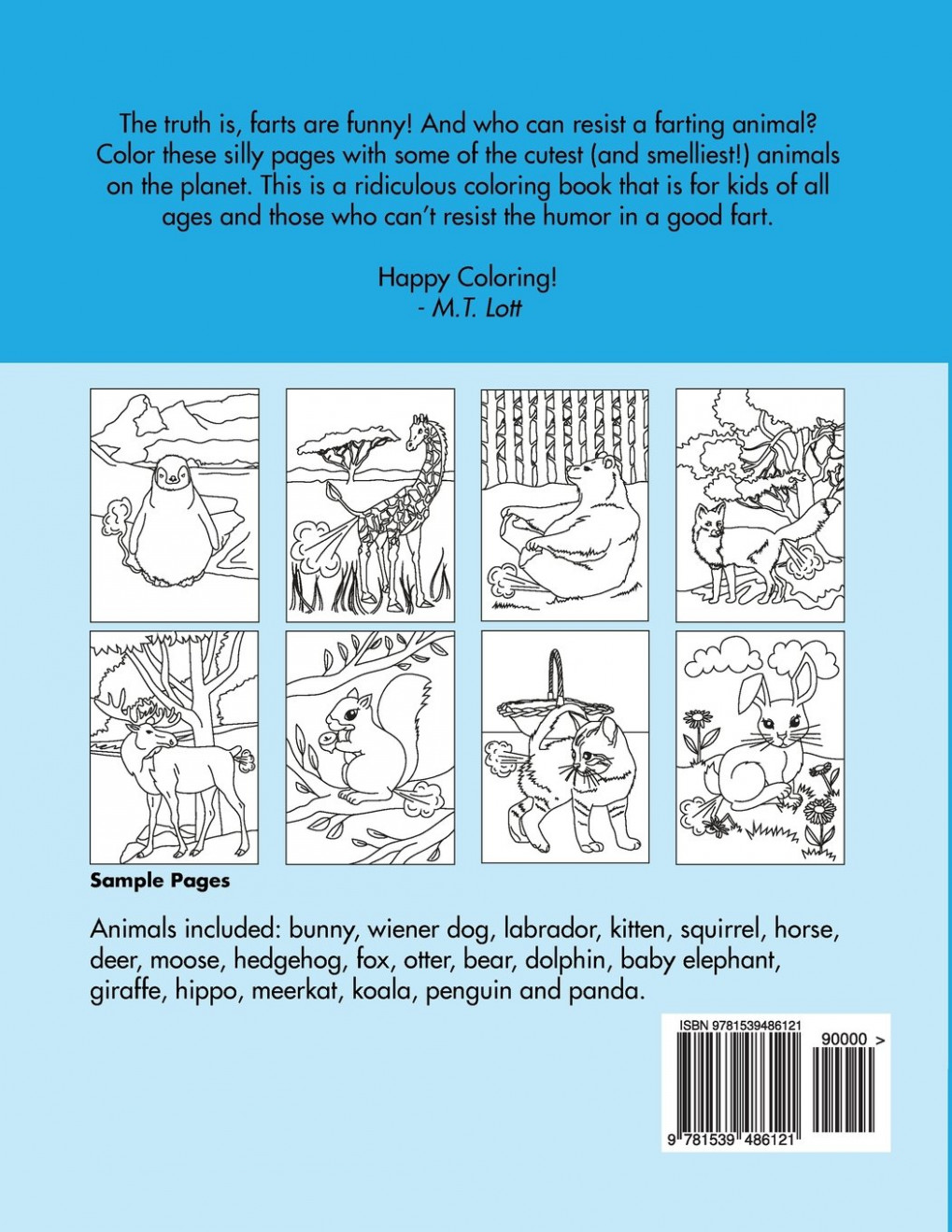 The Farting Animals Coloring Book: Amazon.de: M T Lott ...