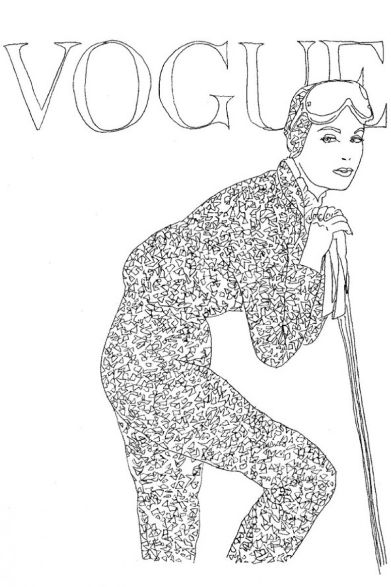 The First Vogue Coloring Book Is Unveiled – Pursuitist – vogue coloring book