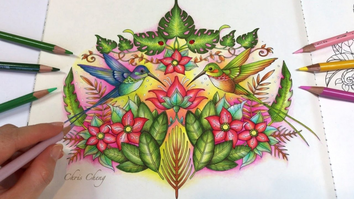 The Hummingbirds – Part 18 | Real Time Coloring | Magical Jungle ..