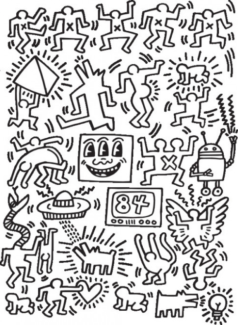 The Keith Haring Coloring Book – Kinder Books – keith haring coloring book